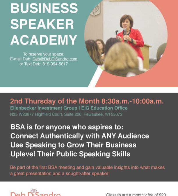 Deb DiSandro- Business Speaker Academy