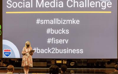 Smallbizmke Presents at Fiserv Minority Owned Bucks Business Grant Ceremony